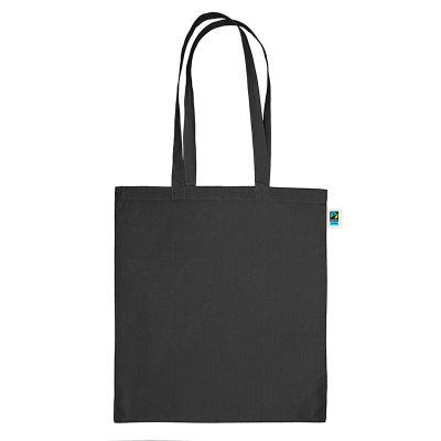 Festa fairtrade katoenen draagtas zwart