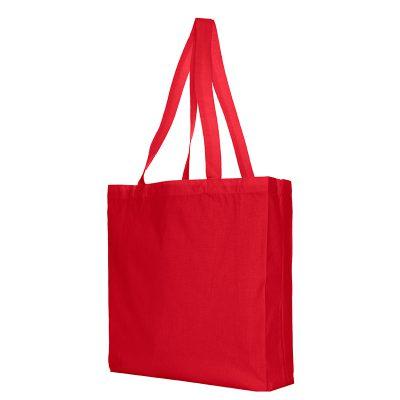festa katoenen shopper rood